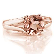 pink morganite 2 carat pink morganite solitaire split engagement ring