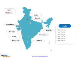Mumbai India Map by Free India Editable Map Free Powerpoint Templates