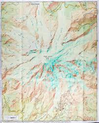 Mt Washington Trail Map by Trail Map Of Mount Rainier National Park Washington 217