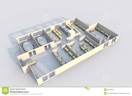3d office plan royalty free stock photos image 23976048