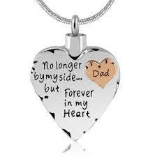 memorial pendants dads heart cremation urns necklaces for ashes keepsake jewelry