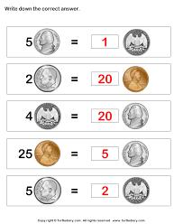 all worksheets coin value worksheets free printable worksheets