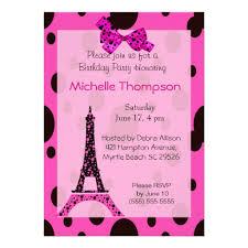 personalized paris theme invitations custominvitations4u com