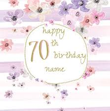 send personalised 70th birthday cards funky pigeon