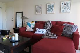 Naturally Home Decor by 3 Ways To Work Around A Red Sofa When Styling Your Living Room