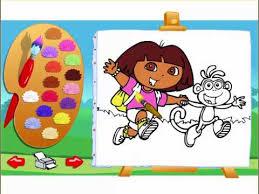 dora explorer coloring games dora explorer painting