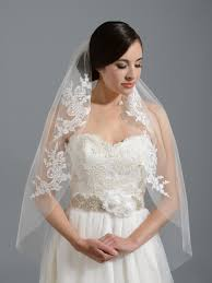 bridal veil ivory wedding veil v051n alencon lace