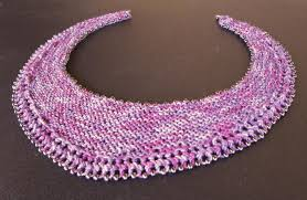 necklace beaded pattern images 7 knitting patterns with beads from cuffs to purses jpg