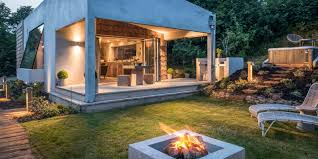 unique fire pits cornish holiday retreat the hide is an architectural delight