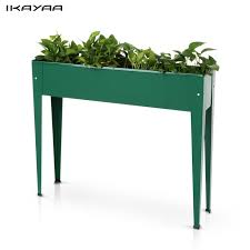 Vertical Garden Pot - online shop ikayaa metal patio elevated garden planter box flower