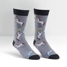 unicorn vs narwhal s crew sock it to me