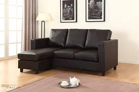 Left Facing Sectional Sofa with Newport Espresso Small Condo Apartment Sized Sectional Sofa With