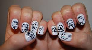 Nail Art Meme - super epic geeky nails smosh