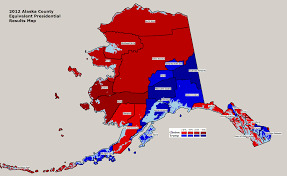 2012 Presidential Election Map by Alaska 2016