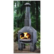castlecreek outdoor cooking steel chiminea 232289 fire pits