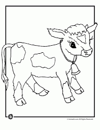 the stylish and also stunning coloring pages of cows pertaining to