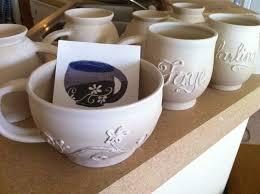 handmade custom personalized name coffee mug wheel thrown pottery