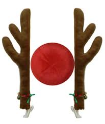 reindeer antlers for car reindeer car decoration 2 x antlers and 1 nose