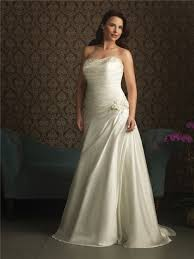 mermaid strapless court train wedding dresses for plus size brides