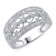 vintage bands rings images 1 10 ct t w diamond vintage style anniversary band in sterling jpg