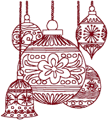 ornaments 2 embroidery design