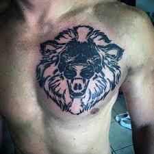 40 tribal lion tattoo designs for men mighty feline ink ideas