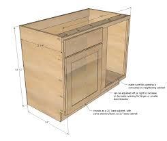 blind corner kitchen cabinet plans 42 base blind corner cabinet momplex vanilla kitchen