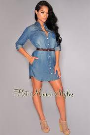 denim collared button down shirt dress