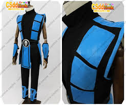 Mortal Kombat Scorpion Halloween Costume Mortal Kombat 3 Scorpion Cosplay Costume Color Blue Csddlink Cosplay