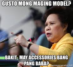 Meme Accessories - gusto mong maging model bakit may accessories bang pang baba