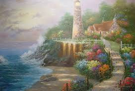 lighthouses beacon hope lighthouse rough house cliff fisherman