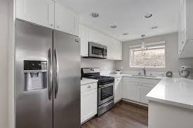 contemporary kitchen with hardwood floors u0026 flush in carlsbad ca