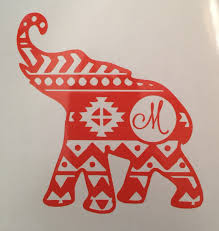 Elephant Wall Decal For Nursery by Aztec Elephant Car Decal Elephant Wall Decal Elephant Decal