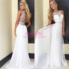 change your style with glamorous look by white formal dresses