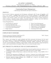 Project Resume Example by Construction Manager Resume Example Sample