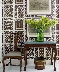 seas lyford trellis wallpaper by tom scheerer in house beautiful