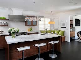 modern kitchen island design gas range black glass stove oven