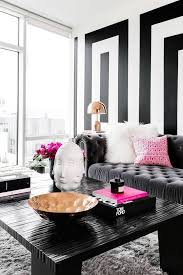 pink and black home decor an entire apartment in black white and why it works