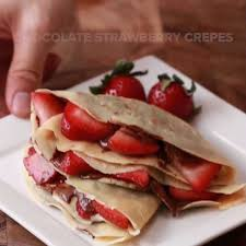 chocolate strawberry chocolate strawberry crepes recipe by tasty