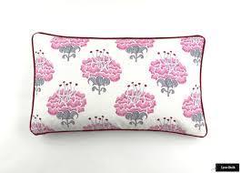 katie ridder peony pillows in raspberry