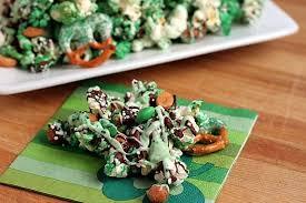 green popcorn u0026 pretzel party mix