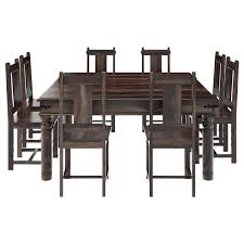 square dining room set rustic solid wood large square dining room table chair set