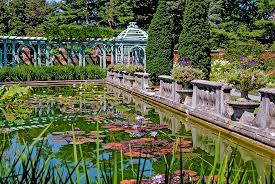 Westbury Botanical Gardens Westbury Gardens The Walled Garden Sky Blue Pink
