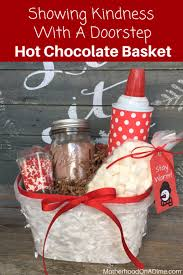 hot chocolate gift basket showing kindness with a doorstep diy hot chocolate basket free