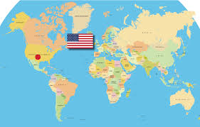 Map Of Mexico And Usa by Terramar Group Usa
