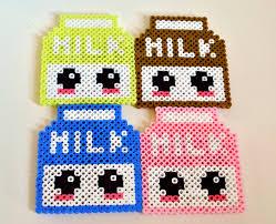 Halloween Perler Bead Templates by Kawaii Milk Carton Perler Bead Sprite By Nerdylittlesecrets