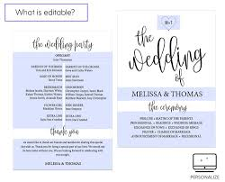 wedding program template calligraphy heart black wedding program template