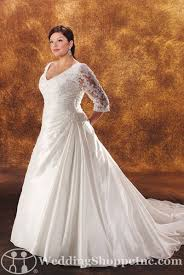 shop for modest wedding dresses with lace sleeves today