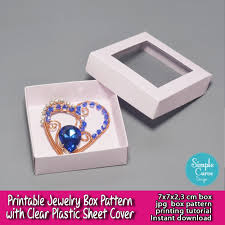 Plastic Template Sheets Printable Jewelry Box Pattern Clear Plastic Sheet Packaging Ready
