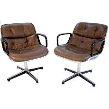Armchairs For Sale Pair Of Charles Pollock For Knoll Executive Armchairs For Sale